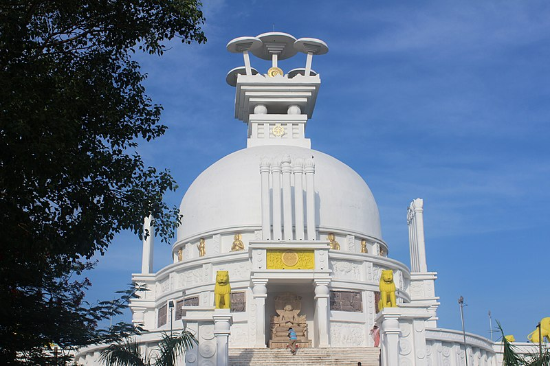 Dhauli Hills is home of The Beautiful Shanti Stupa in Odisha